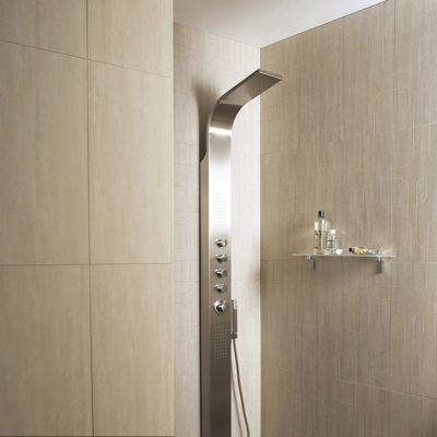 carrelage mur beige effet pierre 30 x 60 cm city rain vendu au carton