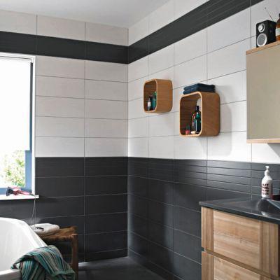 Carrelage Mur Blanc 20 X 50 Cm Ema Castorama