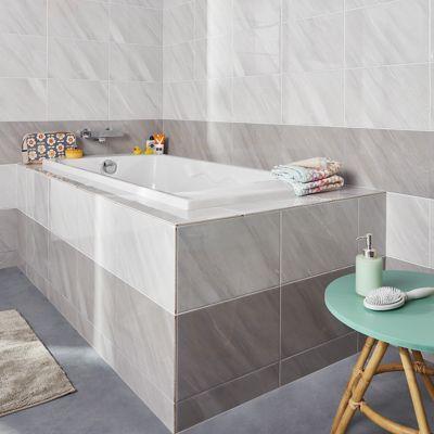 Carrelage Mur Blanc Effet Pierre 25 X 40 Cm Secchia Castorama