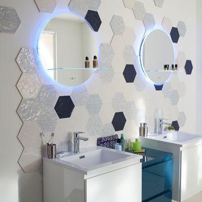 carrelage mur blanc et bleu 17 5 x 20 cm makara c vendu au carton