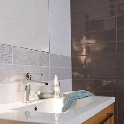carrelage mur decor little italy gris et blanc 10 x 40 cm