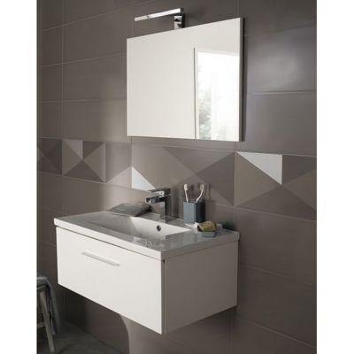 carrelage mur gris mat 25 x 75 cm geometrix vendu au carton