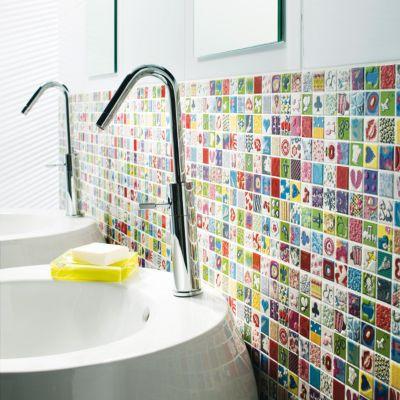 carrelage mur multicolore 25 x 40 cm andy