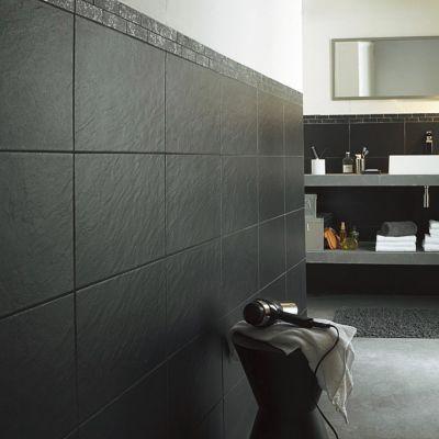Carrelage Mur Noir 25 X 40 Cm Ardoise Vendu Au Carton Castorama