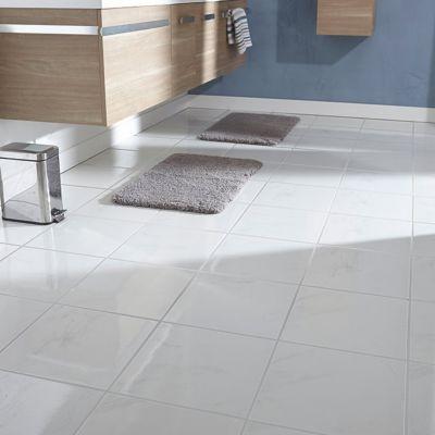 carrelage sol et mur blanc 33 x 33 cm carrara