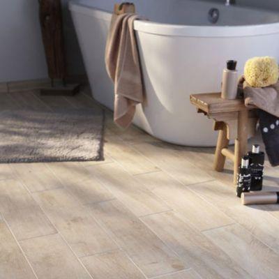 carrelage sol et mur bois clair 15 x 60 5 cm lignium salento vendu au carton