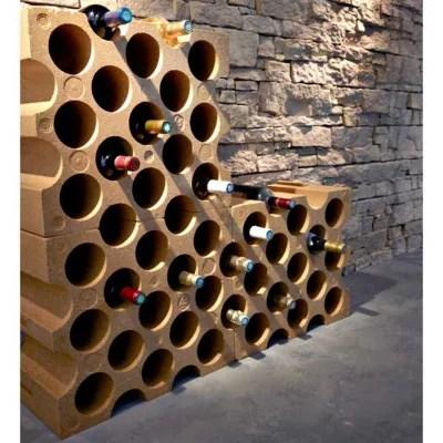 casier 15 bouteilles en polystyrene coloris brique