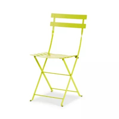 chaise de jardin en metal bistro verveine pliante fermob