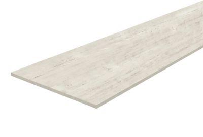 chant effet bois peint blanc tablette melamine 80 x 120 cm ep 1 8 cm
