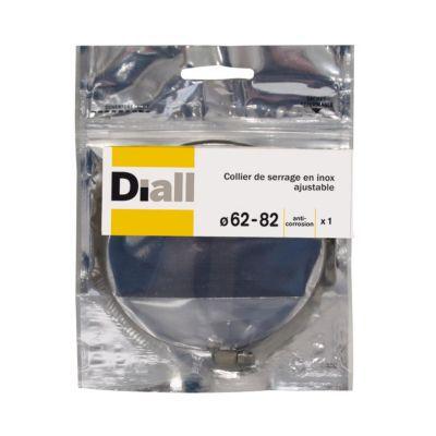 Collier De Serrage Diall Inox L8 X O62 82 Mm Castorama