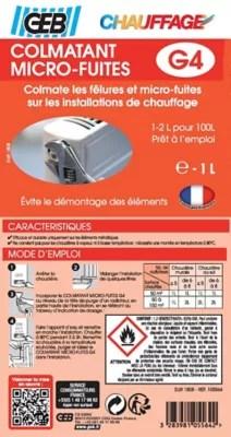 Colmatant Micro Fuites G4 1l Castorama