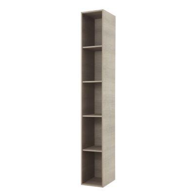 colonne de salle de bains decor bois grise cooke lewis voluto 4 tablettes 22 cm