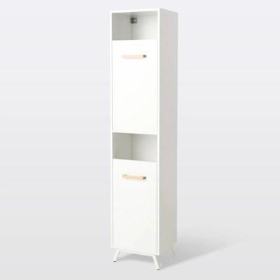 colonne de salle de bains a linge goodhome ladoga blanc l 40 x h 190 x p 36 cm