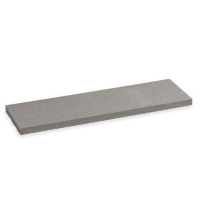 dessus de muret plat gris 100 x 25 cm