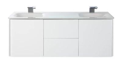 ensemble de salle de bains ceylan blanc 140 cm