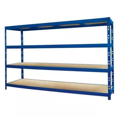 etagere epoxy bleu 4 tablettes l 237 x h 200 x p 60 cm charges lourdes
