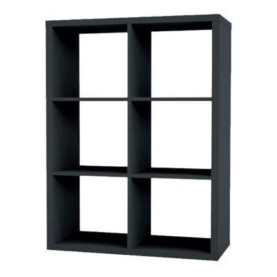 etagere modulable 6 cubes coloris gris mixxit