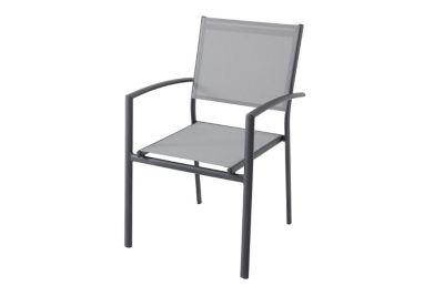fauteuil aluminium baru gris
