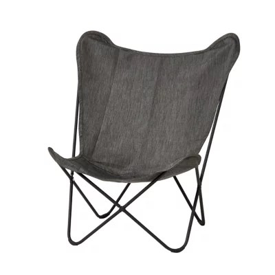 fauteuil bas de jardin blooma mataso acier gris