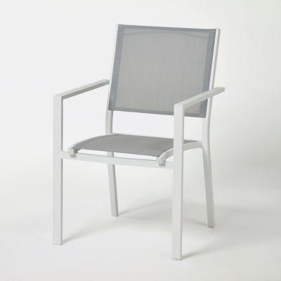 fauteuil de jardin aluminium blooma barbana gris