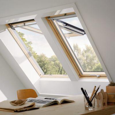 fenetre de toit a projection velux gpl confort bois sk06 3076 114 x h 118 cm