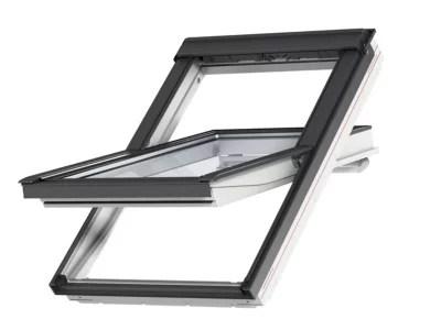 fenetre de toit a rotation velux confort everfinish polyurethane l 78 x h 98 cm ggu 0076 mk04