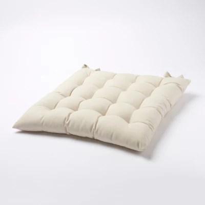 galette de chaise goodhome hiva naturel 45 x 45 cm