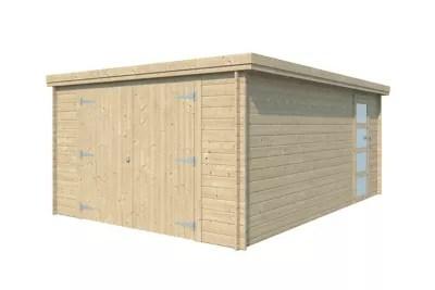 garage bois toit plat 19 82m
