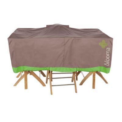 housse pour table blooma marron 170 x 111 x 60 cm