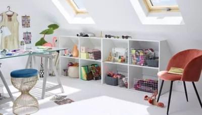 Kit Dressing Sous Combles Dom Coloris Blanc H 67 90 X L 120 X P 50 Cm Castorama