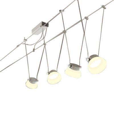 kit spot sur cable paulmann glas led chrome mat