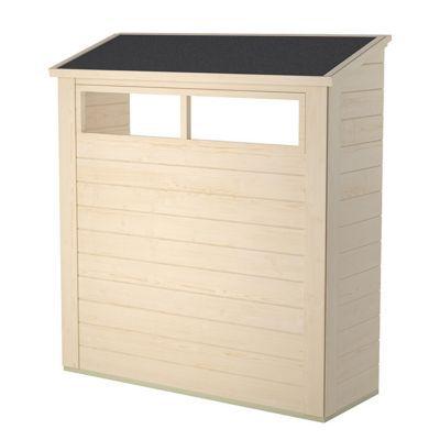 kit etageres pour abri de jardin bois blooma solna option 9