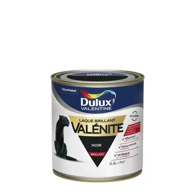 laque valenite dulux noir brillant 0 5l