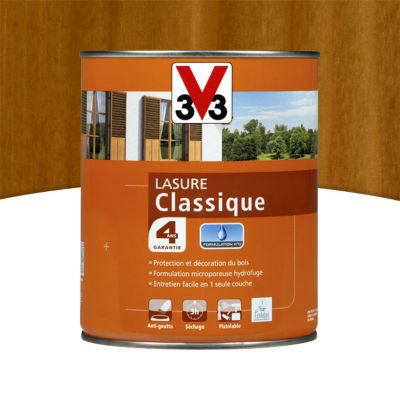 lasure bois classique v33 chene dore 1l 4 ans