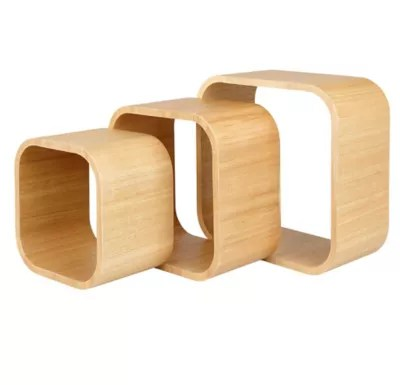 lot de 3 cubes chene cusko form