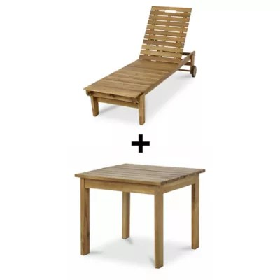 lot table basse de jardin denia 47 x 47 cm bain de soleil bois blooma denia
