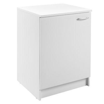 meuble bas 1 porte blanc primalight 60 cm plan de travail