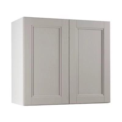 meuble de cuisine aldo taupe facade 1 porte l 80 cm caisson haut