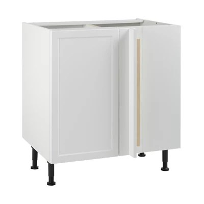 meuble de cuisine fog blanc d angle facade 1 porte 1 tiroir kit fileur caisson bas l 80 cm
