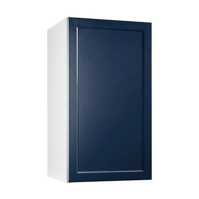 meuble de cuisine fog bleu nuit facade 1 porte caisson haut l 40 cm