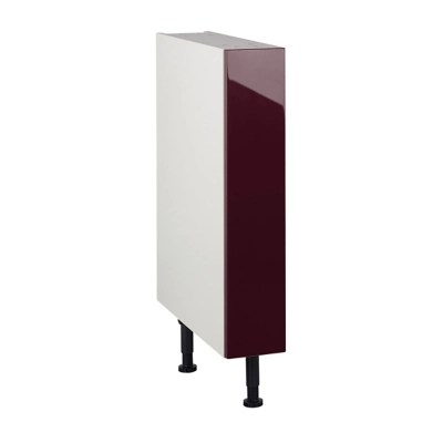 meuble de cuisine gossip aubergine facade 1 porte caisson bas l 15 cm