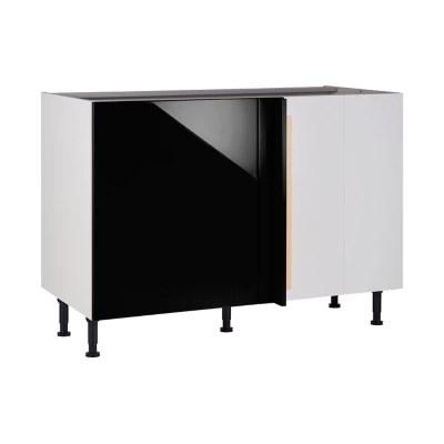 meuble de cuisine gossip noir d angle facade 1 porte kit fileur caisson bas l 60 cm