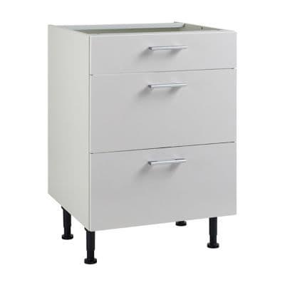meuble de cuisine spicy blanc facades 1 tiroir 2 casseroliers caisson bas l 60 cm