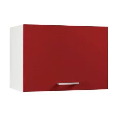 meuble de cuisine spicy rouge facade 1 porte ouvrante sur hotte caisson haut hotte l 60 cm