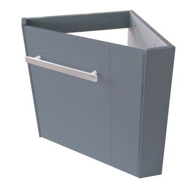 meuble lave mains d angle gris cooke lewis levyne