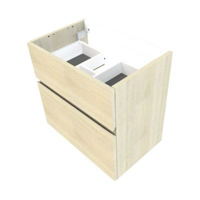 meuble sous vasque faible profondeur cooke lewis calao aspect chene naturel 60 cm