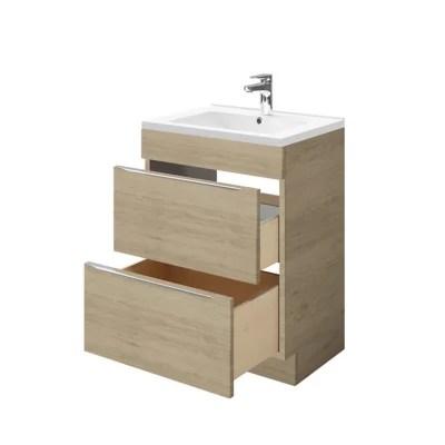 meuble sous vasque a poser goodhome imandra bois 60 cm plan vasque nira