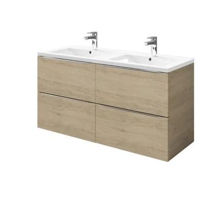 meuble sous vasque a suspendre goodhome imandra bois 120 cm plan vasque nira