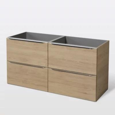 meuble sous vasque a suspendre goodhome imandra bois 120 cm