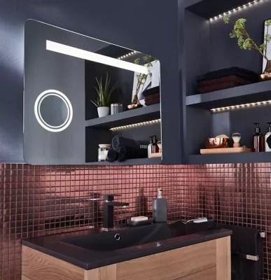 miroir led coppet high tech 80 x 60 cm
